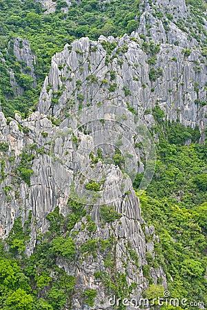 泰国山�^_横向石灰石山泰国观点