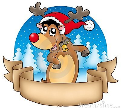 横幅圣诞节逗人喜爱的驯鹿