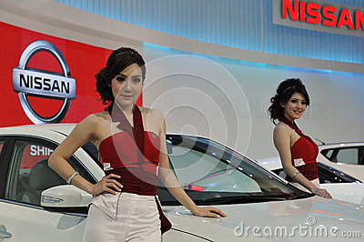汽车展示会在曼谷 编辑类图片