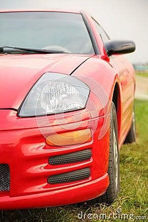 汽车红色体育运动