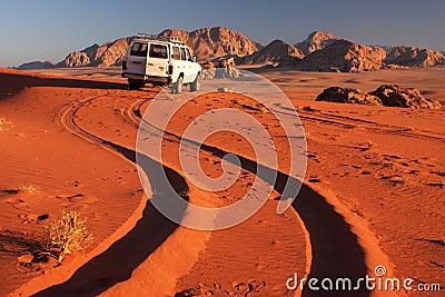 沙漠汽车 图库摄影片