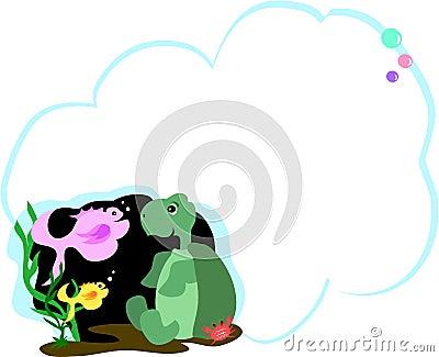 泡影鱼朋友绿色消息乌龟图片