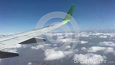 泰国,萨洪·那空 — 2020年2月21日:天空亚洲公司的NOK航空 从唐穆昂机场接送乘客 股票录像