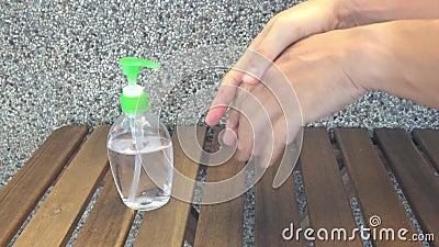 洗手液瓶 冠状病毒Covid 19概念 影视素材