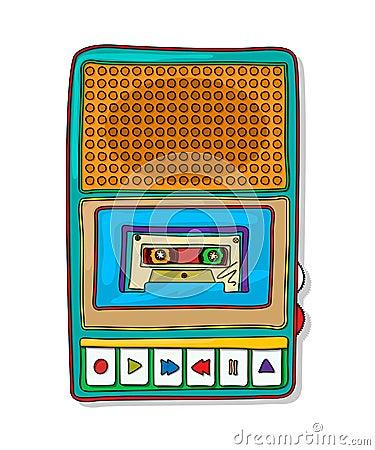 流行艺术录音磁带记录器