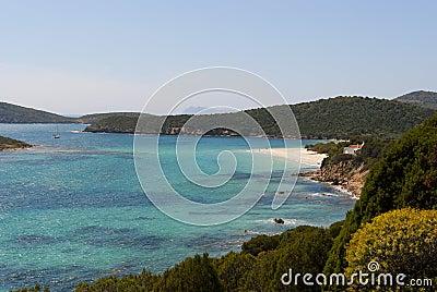 海岸线南的撒丁岛