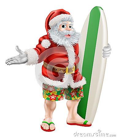 海浪圣诞老人