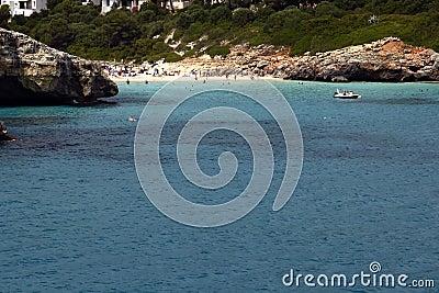 海滩cala mallorca mandia