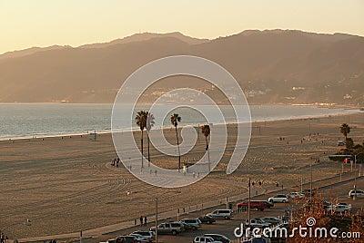 海滩monica ・圣诞老人