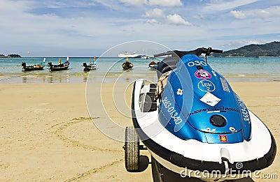 海滩patong普吉岛 编辑类库存图片