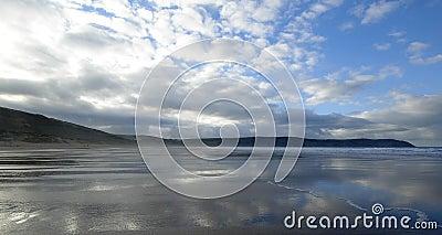 海滩woolacombe