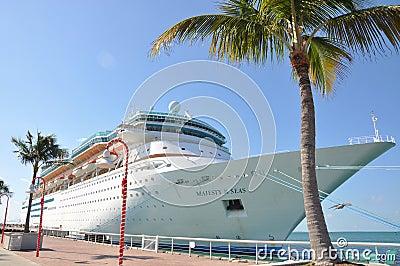 海运的雄伟在Key West 编辑类库存照片