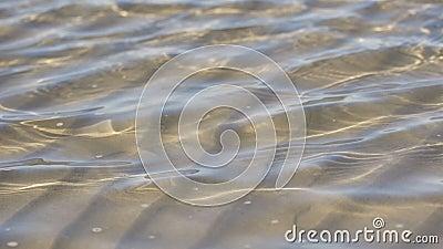 海洋在慢动作的水波纹 影视素材