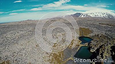 深盐水湖和熔岩妙境 影视素材