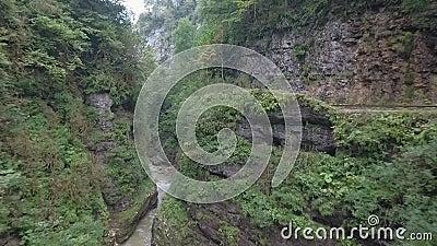 深谷的岩壁 影视素材