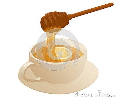 温暖的蜂蜜