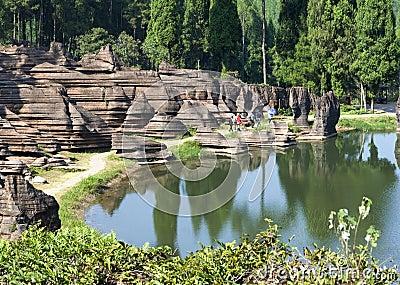 湖南省的,中国红色石森林地质公园图片