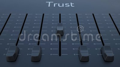 滑有信任题字的音量控制器 股票视频