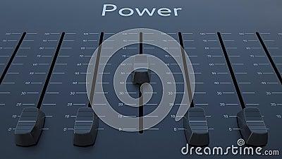 滑有力量题字的音量控制器 股票视频