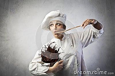 滑稽的厨师