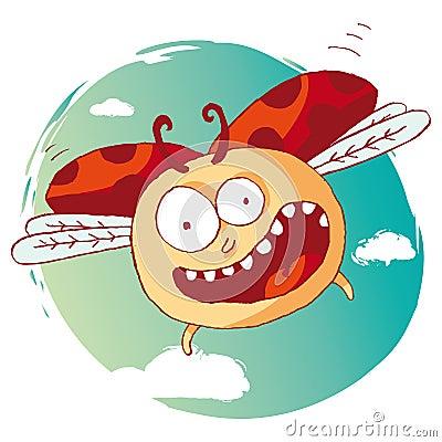 滑稽的瓢虫
