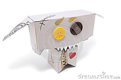 滑稽的暴牙的玩具