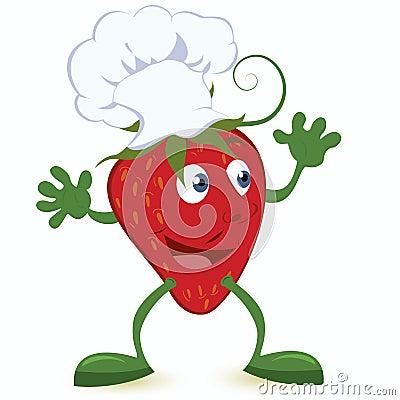 漫画人物主厨帽子草莓图片