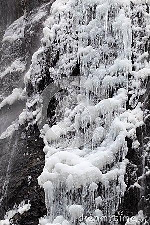 瀑布在冬天