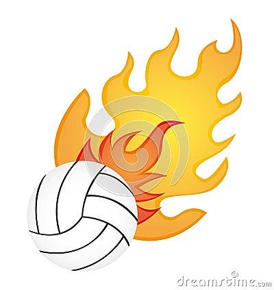 火排球图片