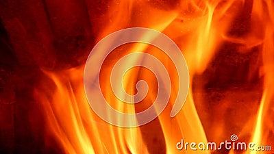 火火焰在壁炉的 股票录像