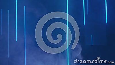 烟雾抽象背景雾蓝色霓虹灯 影视素材
