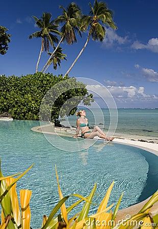 热带库克群岛的天堂