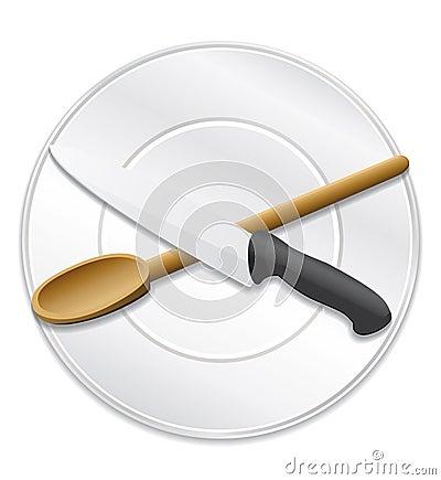 烹调主厨或食谱图标。