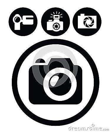 照相机图标 库存图片