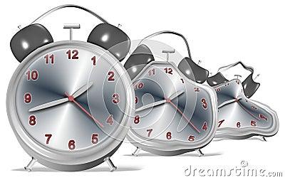 熔化的时钟
