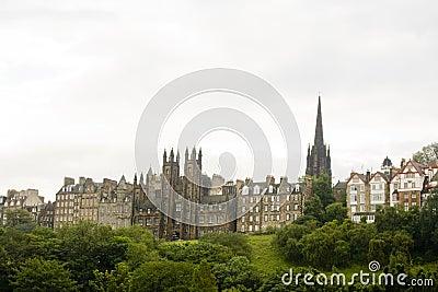 爱丁堡老苏格兰城镇