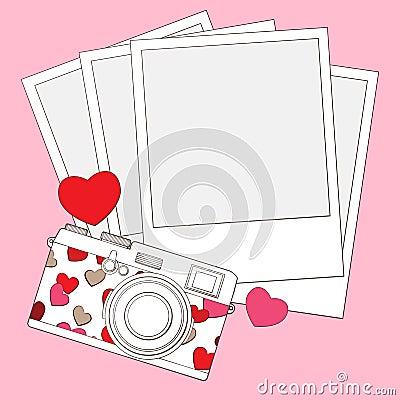 爱和重点照片照相机背景