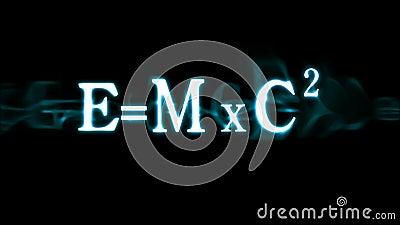 爱因斯坦的惯例E=mc2 库存例证