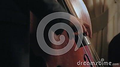 爵士乐使用在舞台的吉他三重奏 股票视频