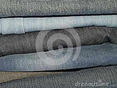 牛仔布长裤