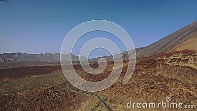 特内里费通往泰德火山的路,月景,石头, 股票视频