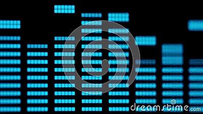 特写镜头音乐和音频调平器 股票视频