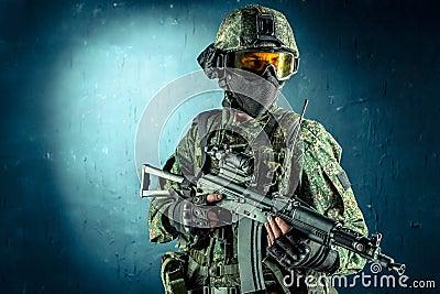 库存照片: 特种部队战士