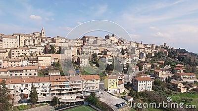 特雷伊阿-马尔什,意大利的空中录影 股票录像