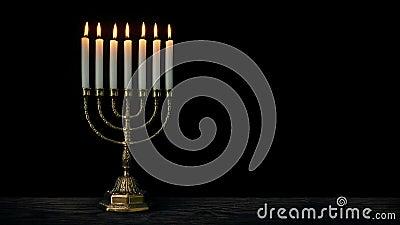 犹太人烛台 影视素材