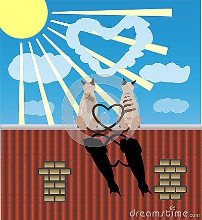 猫恋人屋顶二