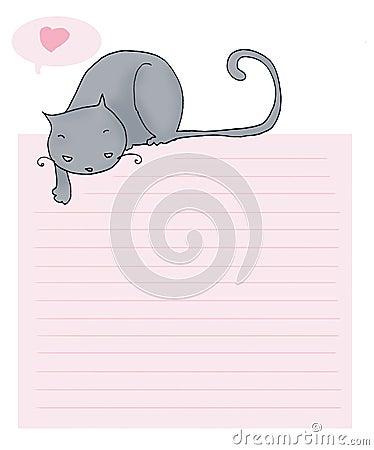 猫滑稽的信函爱