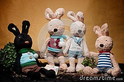 玩具兔子汇聚