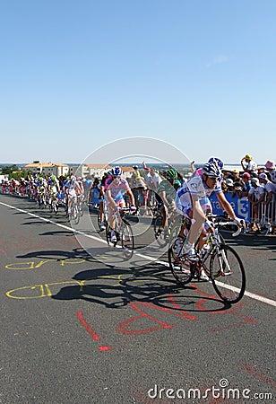 环法自行车赛阶段1 图库摄影片