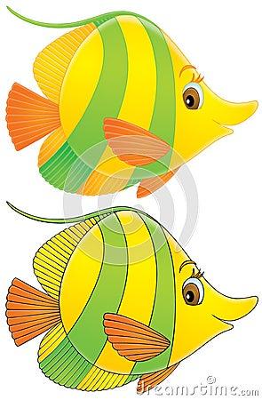 黑色颜色塑造外形滑稽图画的鱼.图片